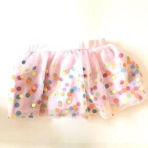 Disney Store Tutu Skirt Birthday Sprinkles Pink 3T